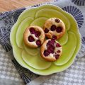 Financiers pistaches-framboises