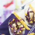 Salade de chou rouge, mangue, raisins,[...]