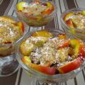 Blanquette de nectarines aux fruits rouges