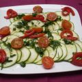 Carpaccio de courgettes  ww