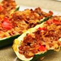 Courgettes farcies simples