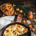 Frittata aux girolles et cantal