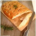 Focaccia romarin, bacon, huile d'olive