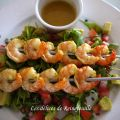 Brochettes de crevettes au curry madras